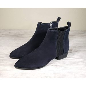 DKNY Taile Indigo Suede Boots Nwot